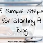 Starting A Blog Is Simple With These 5 Easy Steps