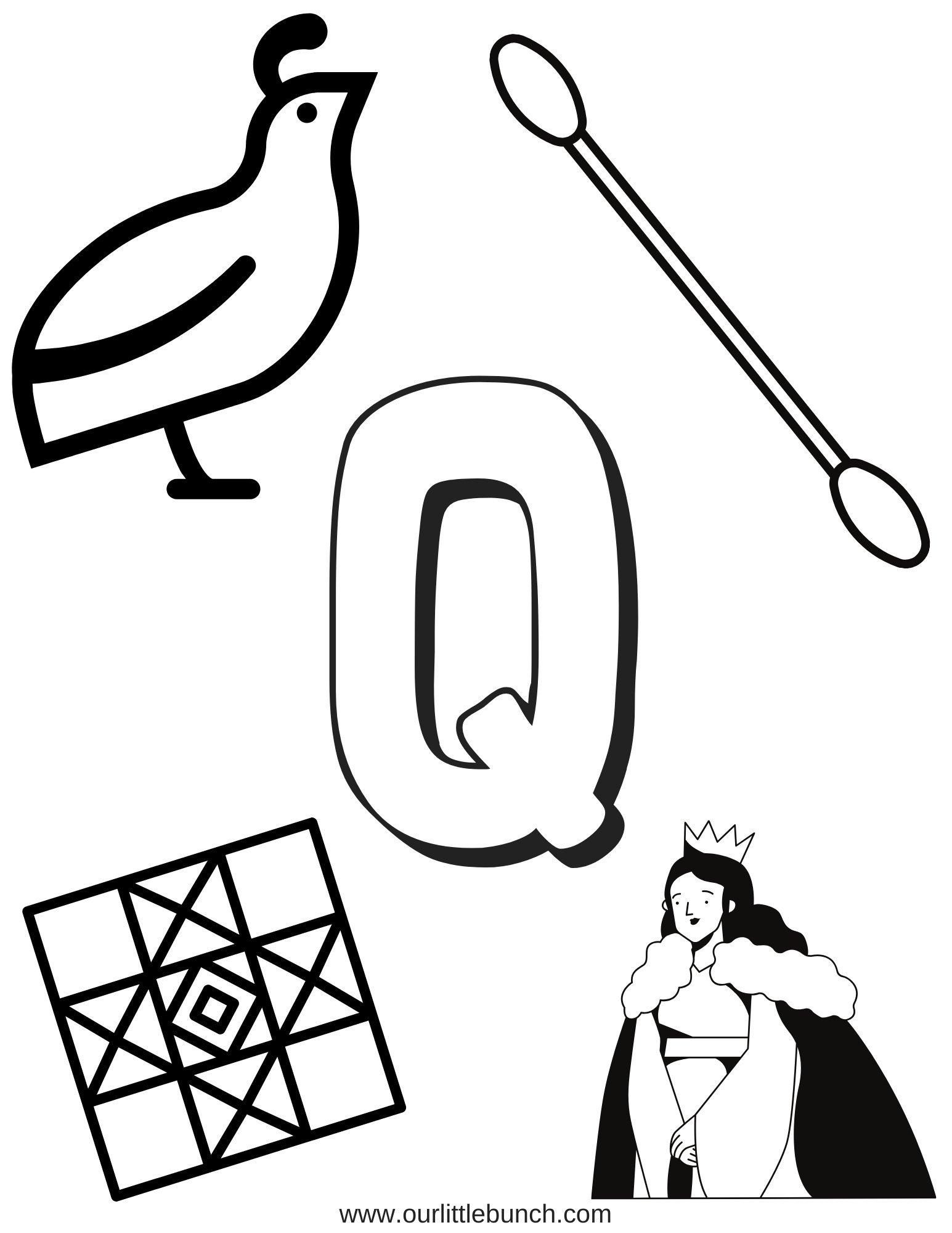 Letter Q Pintable 2