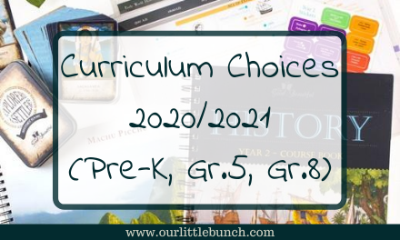 Curriculum Choices for 2020/2021 (pre-school, grade 5, and 8)