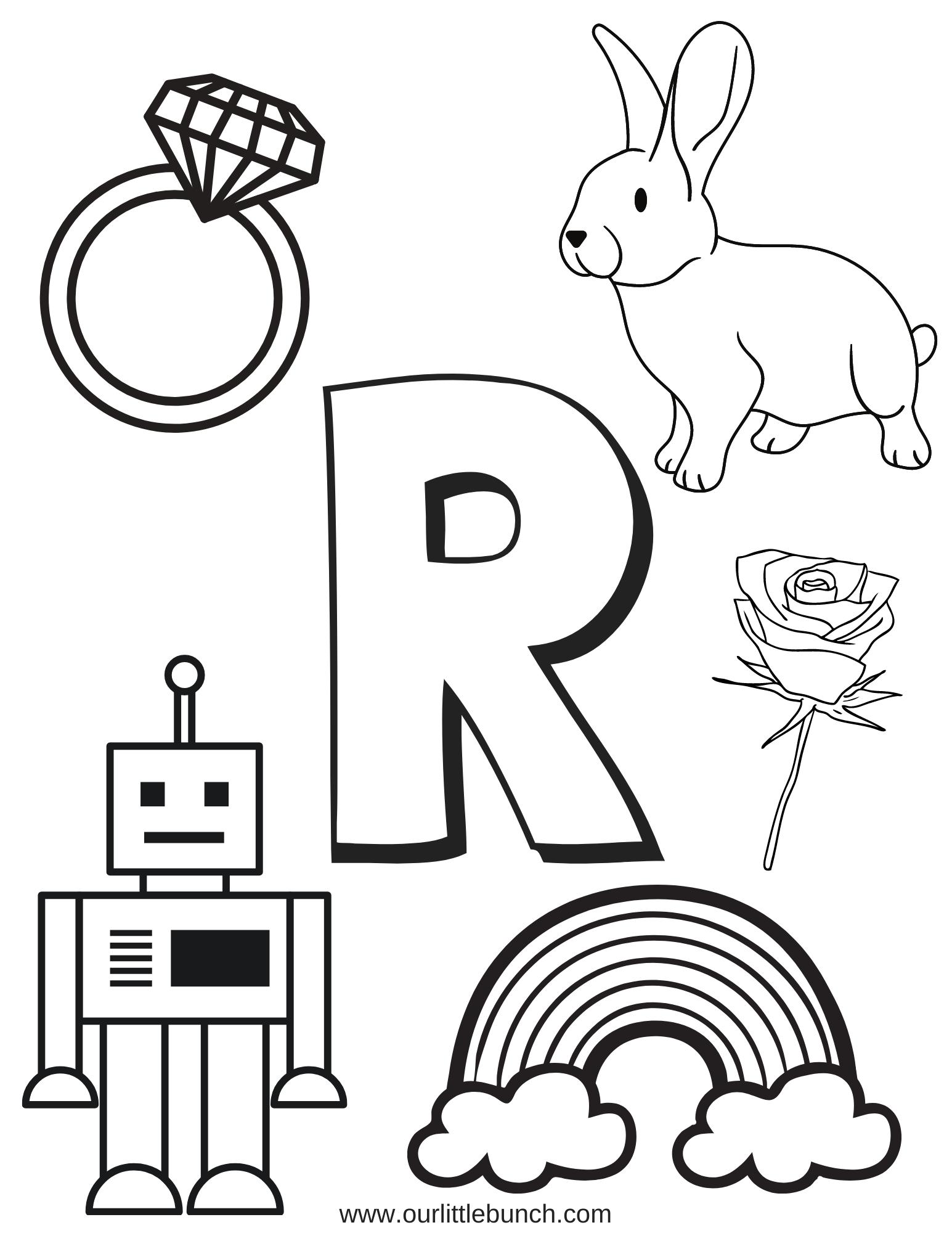 Letter R Pintable 2