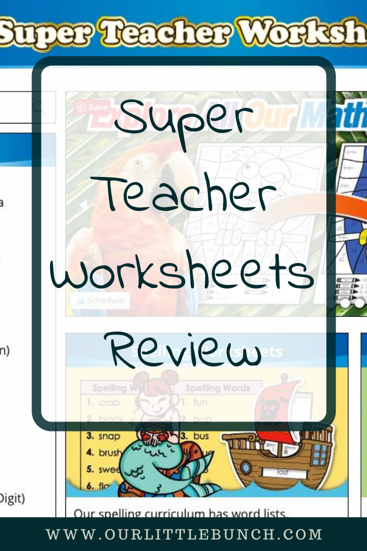 Super Teacher Worksheets Pin Image