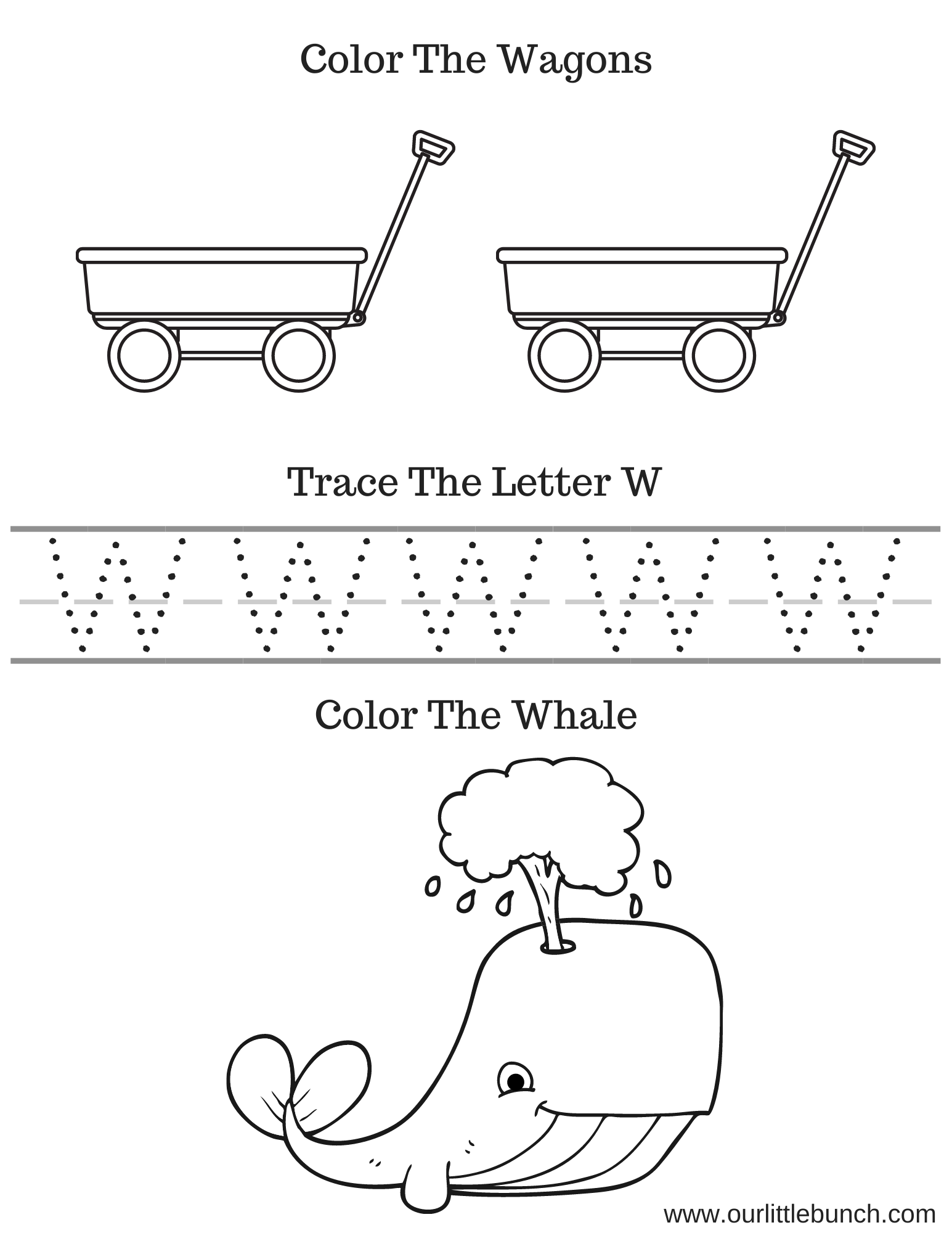 Letter W Printable 1