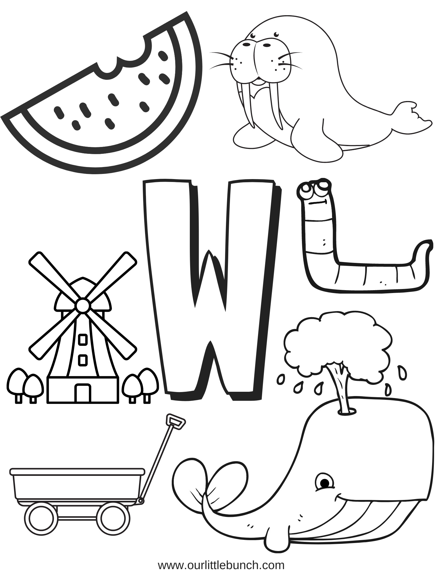 Letter W Printable 2
