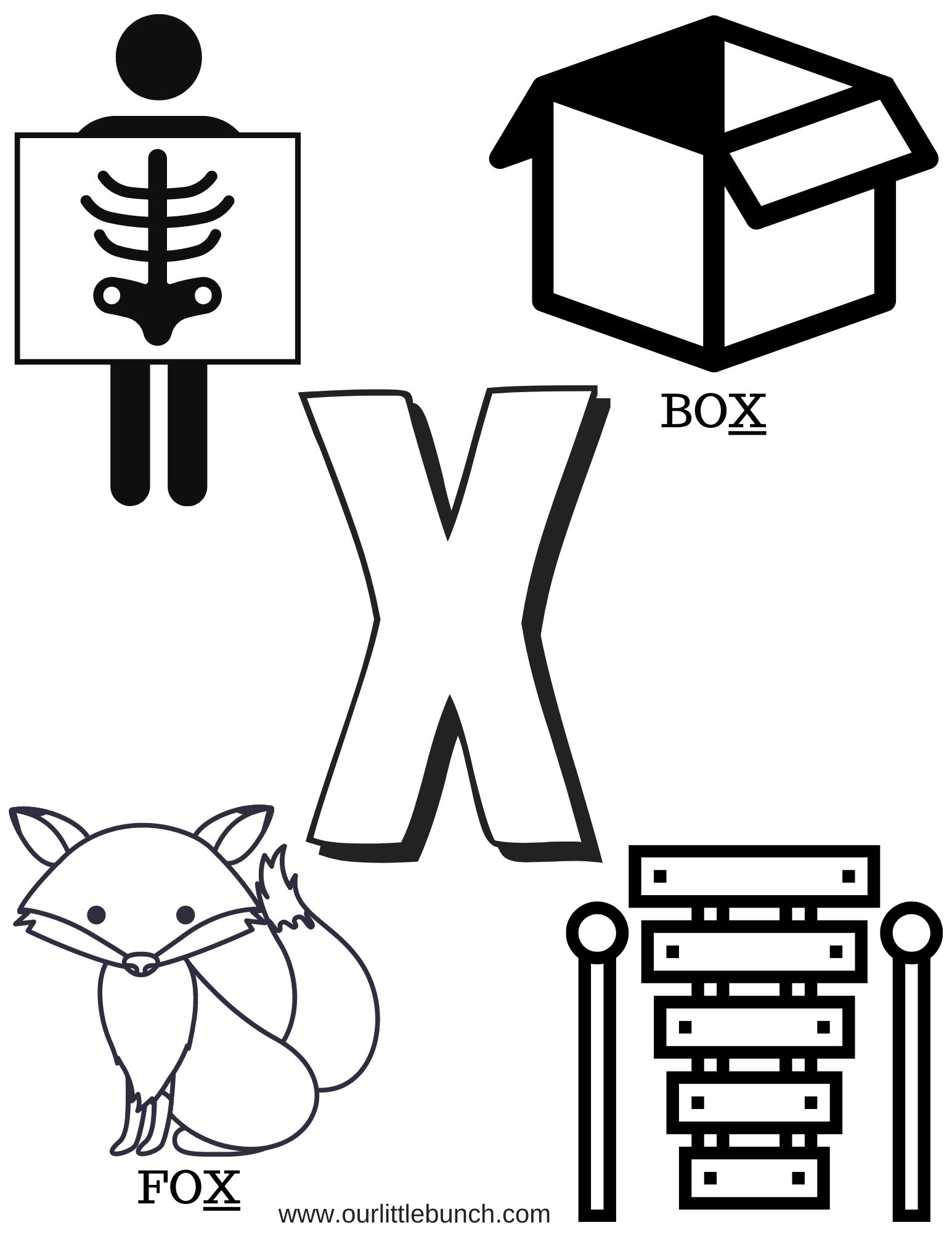 Letter X Printable 2