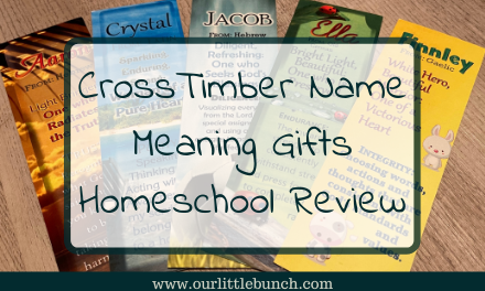 CrossTimber Name Meaning Gifts – Homeschool Review