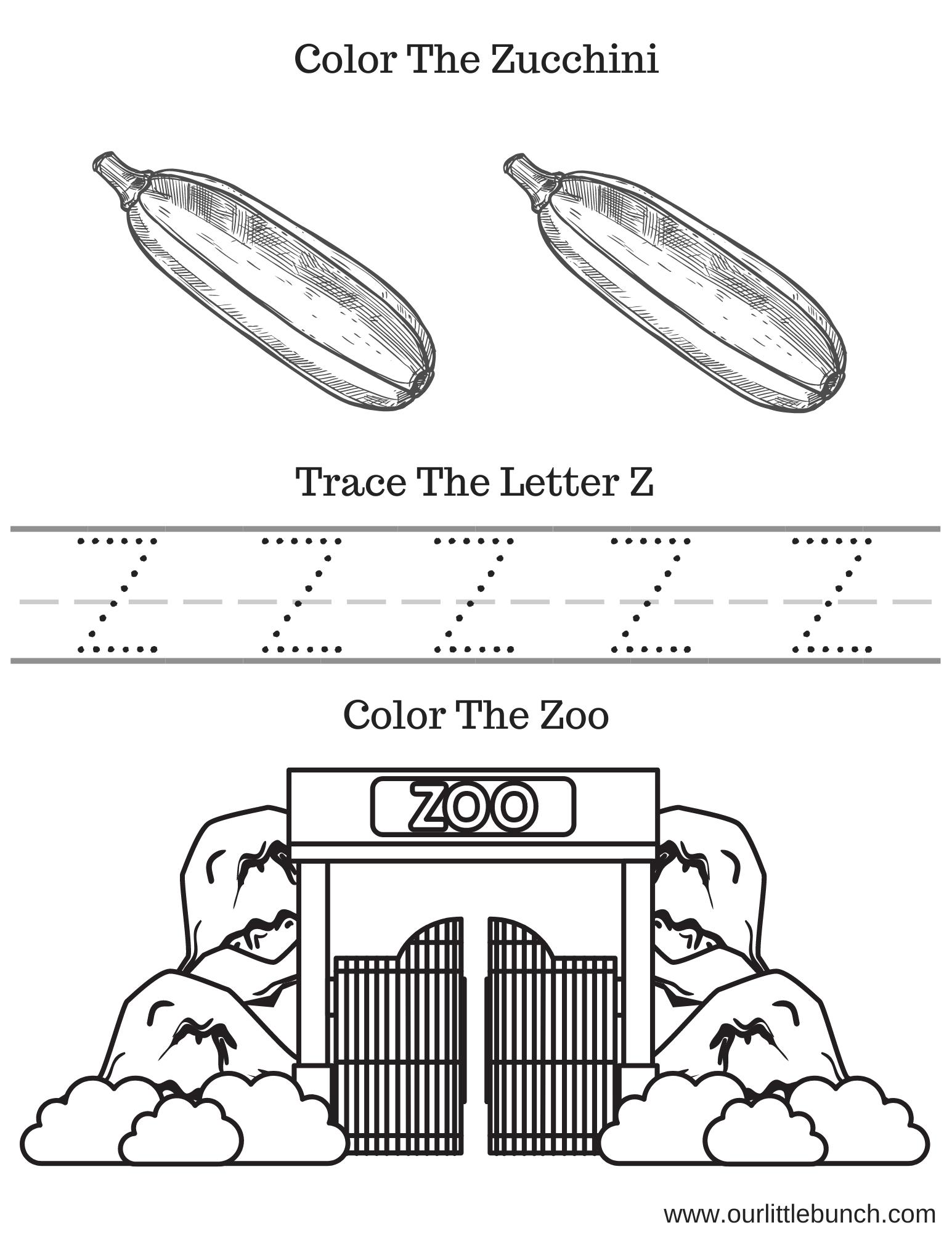 Letter Z Printable 1