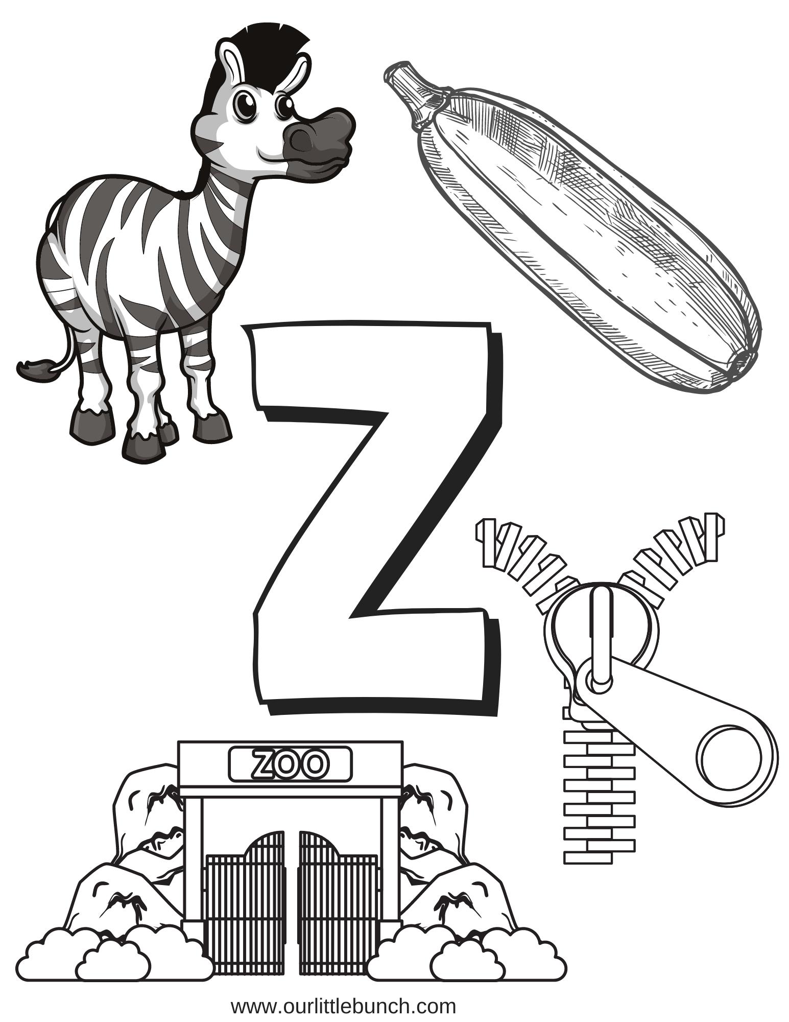Letter Z Printable 2