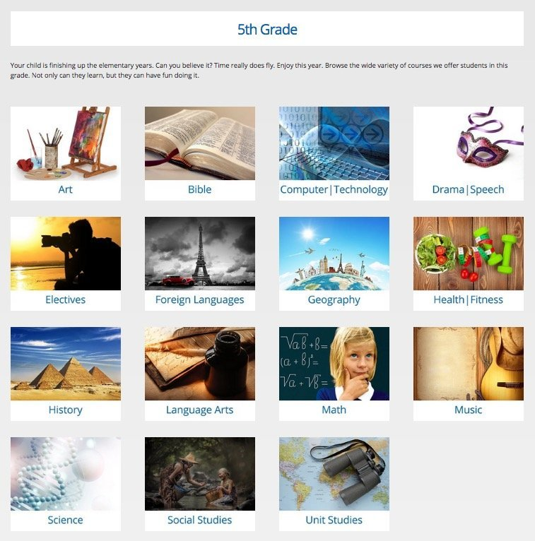 Browse subjects by grade