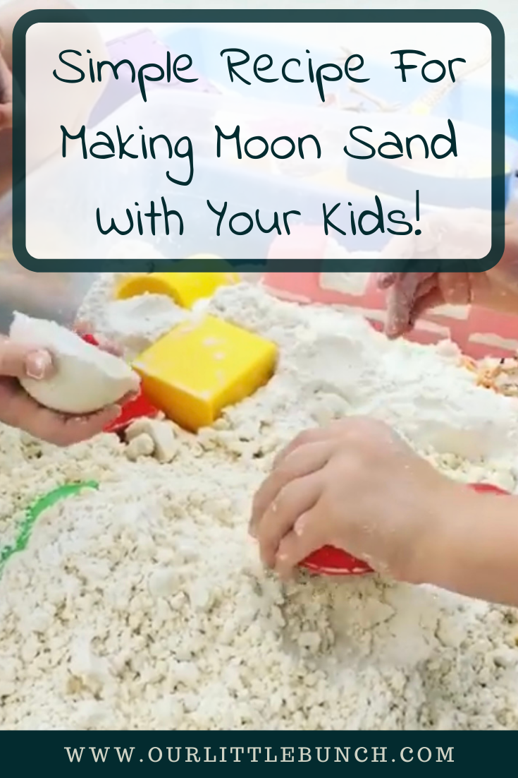 Simple Recipe For Making Moon Sand For Your Kids!
