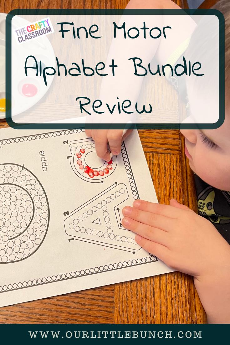 Fine Motor Alphabet Bundle Review