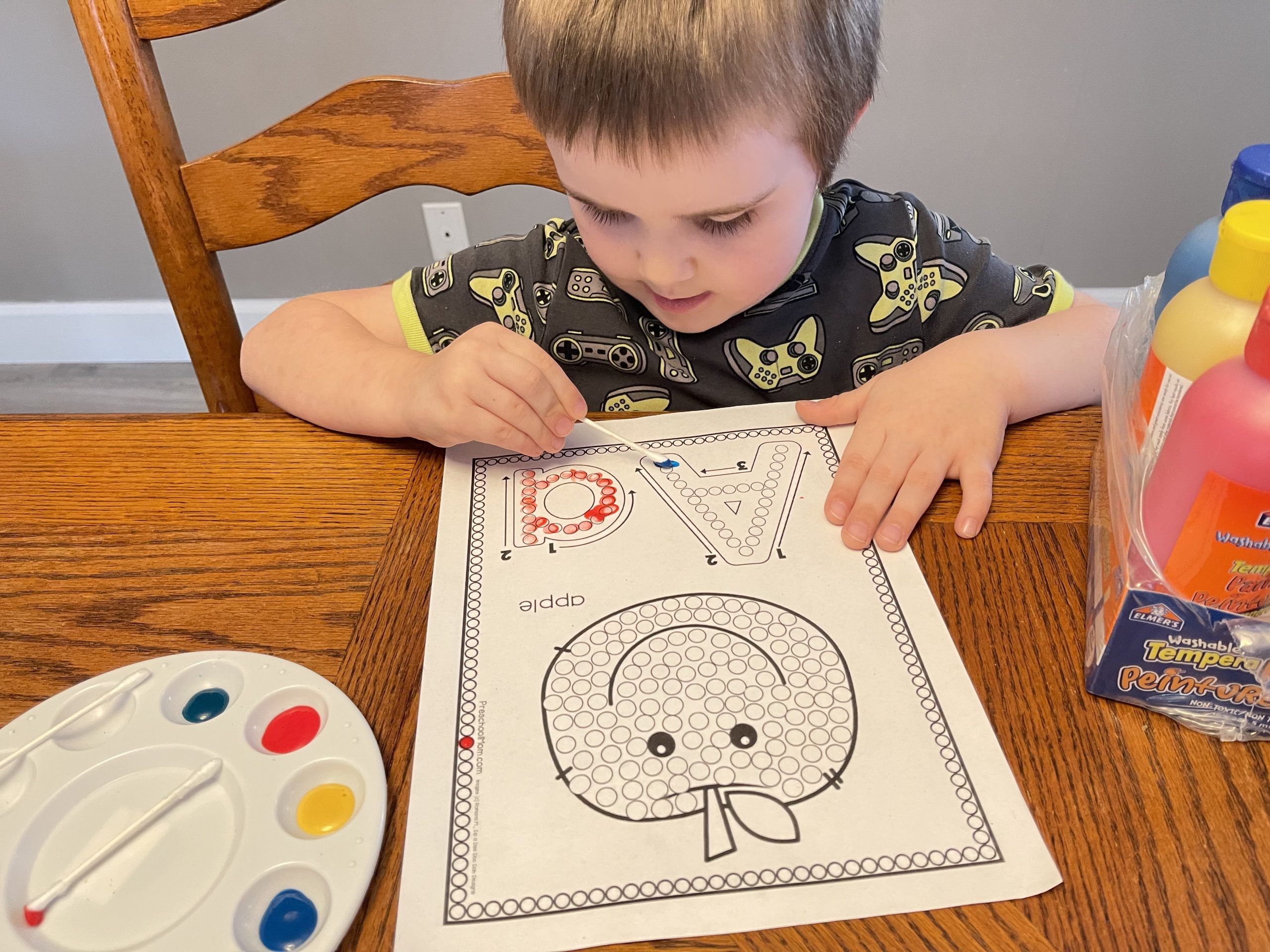 Painting Fine Motor Page