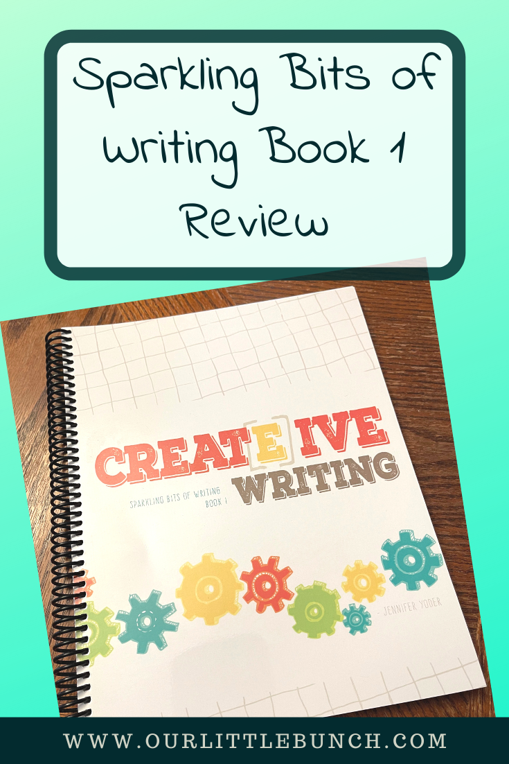 Sparkling Bits of Writing Book 1 Review Pin Image